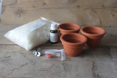 Startpakket voor Soy-wax Citronella Kaarsjes te maken