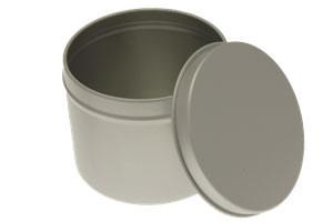 Blikje aluminium met deksel ( 3 Verschillende)
