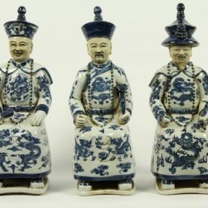 Porseleinen Beelden Sitting Emperor