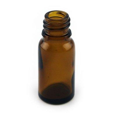 Amber kleurige glazen flesjes met druppeldop