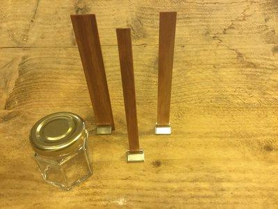 Houten pit Dubbel met Clips (Small) 10 x 150