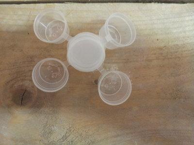 Cups voor Melts in te gieten 10.7 ml inhoud met vaste deksel